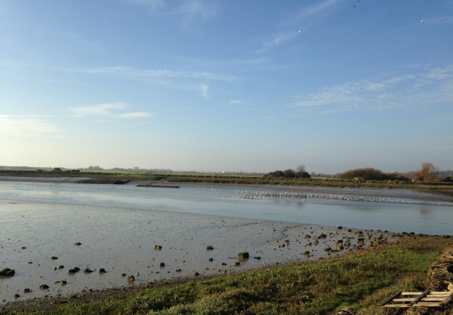 Looking across the River Adur at Shoreham
