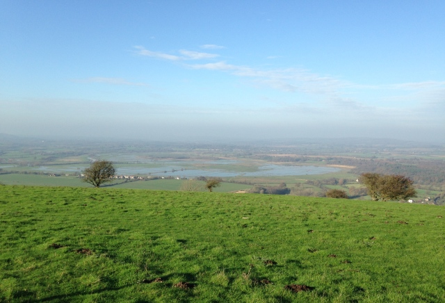 Flooded fields around Amberley
