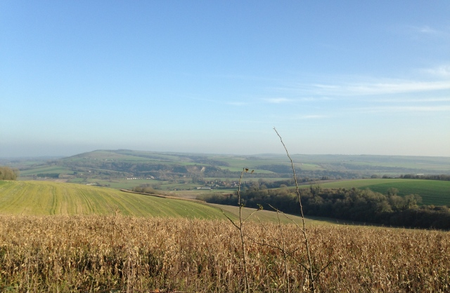 Looking back down into the Arun Valley