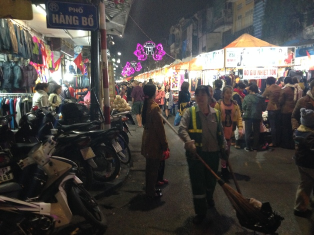 A street market - Saturday night in Hanoi