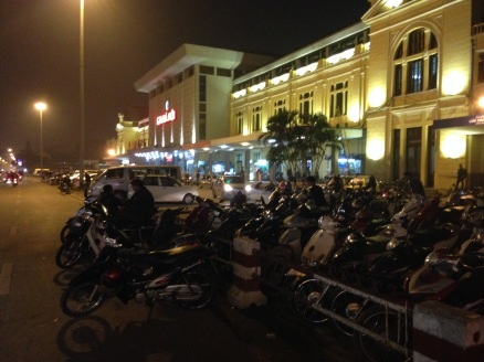 Hanoi Railways Staion - heading for the20:10 to Hue and Danang