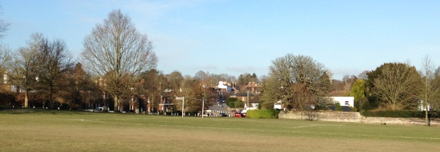 An English Village Green in February